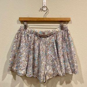 Joie Aeidra silk floral shorts